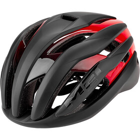 MET Trenta Kask rowerowy, black/shaded red
